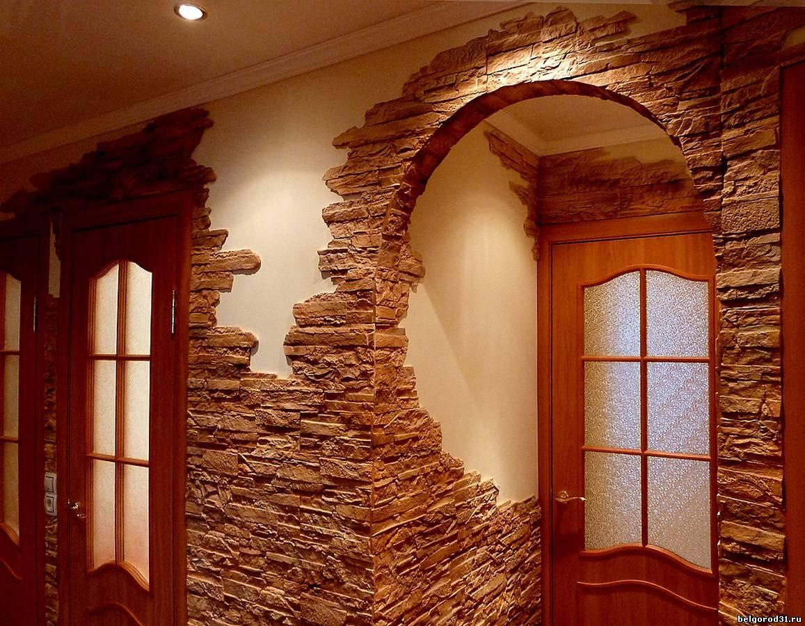 Стены искусственный камень